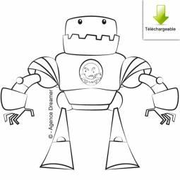 Kitor le méchant homme robot en coloriage