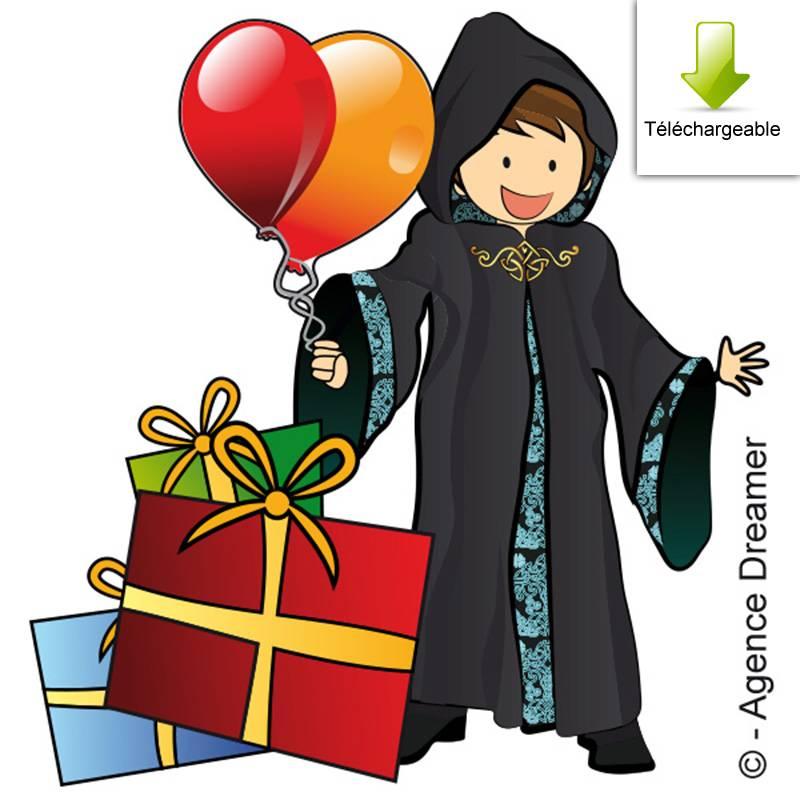 Invitation anniversaire gratuite à la chasse au trésor de l'école de magie