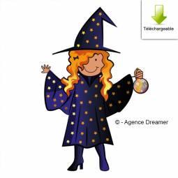 Carte à compléter de la chasse au trésor école de magie