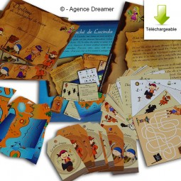 Kit de jeu Chassse au trésor pirate
