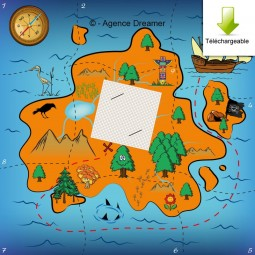 Carte trésor caché pirates