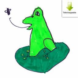 exemple de personnage de la chasse au trésor personnalisable - dessin d'enfant